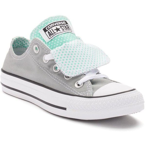 Womens Converse Chuck Taylor All Star Double-Tongue Shoes ($55) ❤ liked on Polyvore featuring shoes, dark grey, star shoes, converse footwear, laced up shoes, round toe shoes and converse shoes