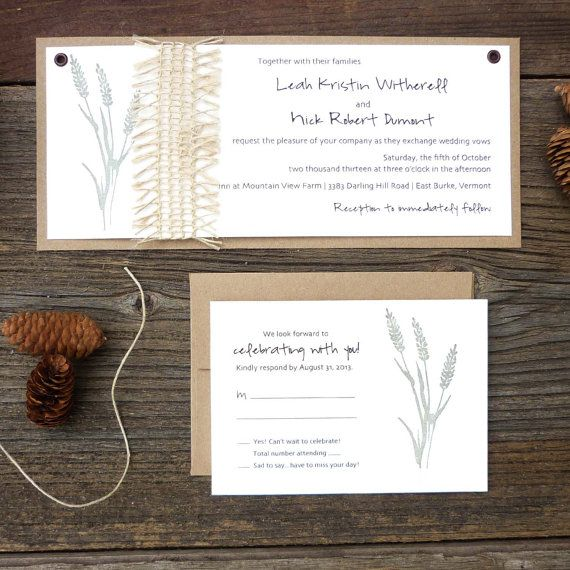 Fall Wedding Invitations . Wedding by ArielShulerDesign on Etsy