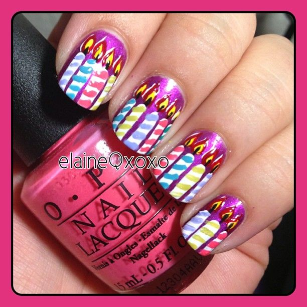 Happy Birthday Nails: 48 Best Images About Birthday Nails On Pinterest