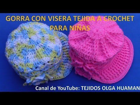 Boina con visera tejida a gancho fácil y rápido - tejiendo con Laura Cepeda - YouTube