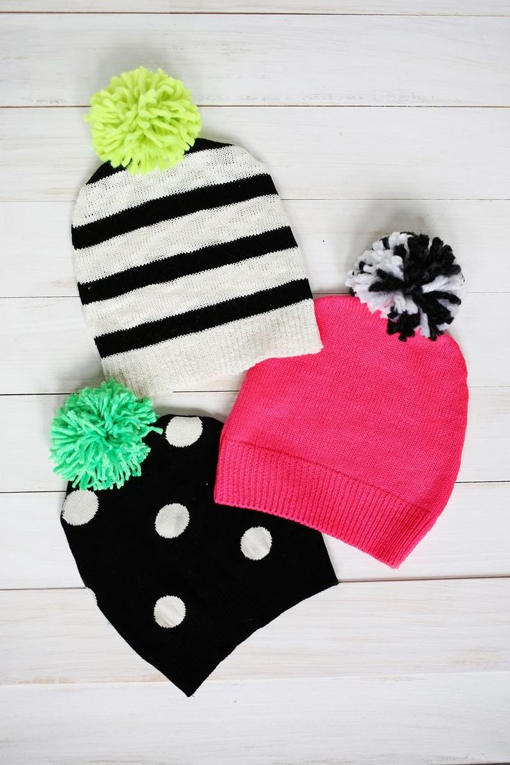 "Remember our ""Have a Sweater? Make a Pillow!"" post? Well, now it's time to use the same principle to make an adorable pom-pom hat to go with the cooler weather that's rolling in. If you don't have expert sewing skills, don't worry! It's really easy and a great way to upcycle either an old sweater or make use of a thrift store sweater that doesn't fit but has a good..."