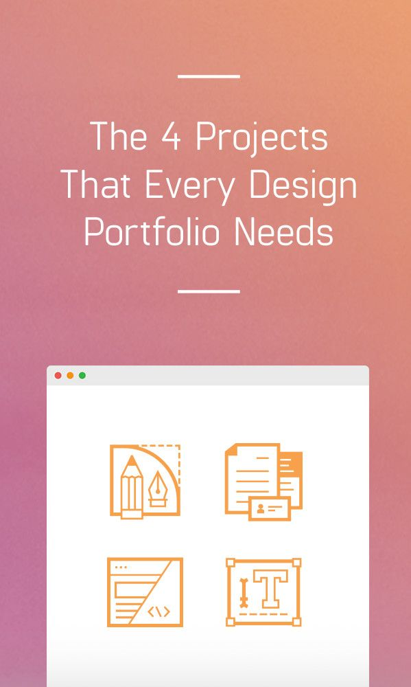 building your design portfolio here are four types of projects that you need to include