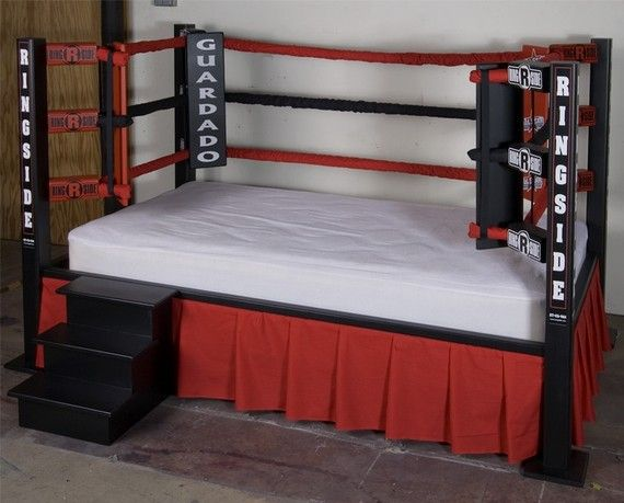Kids twin bed boxing ring sports home design ideas for Boxing bedroom ideas