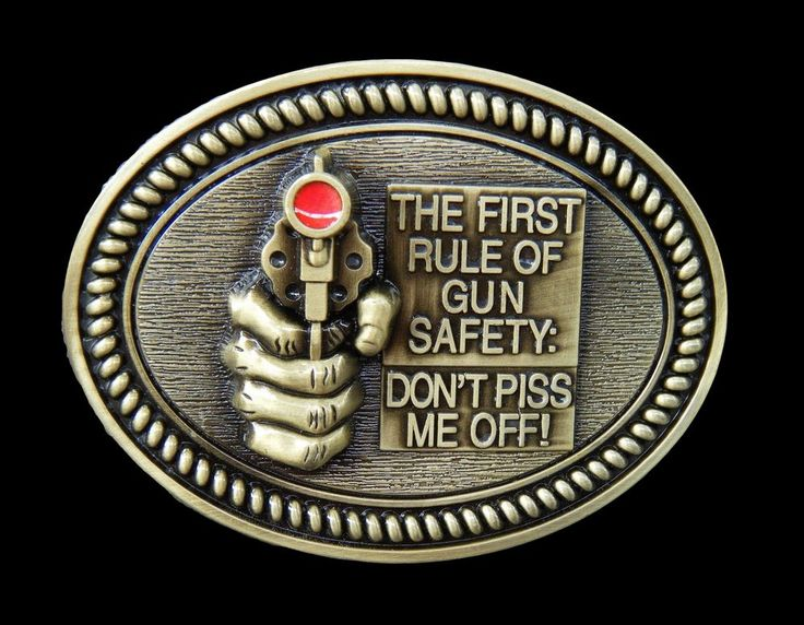 Boucle de Ceinture Rule Of Gun Safety Don t Piss Me Off Humor Cool Belt Buckles #gun Wdontpissmeoff #beltbuckle