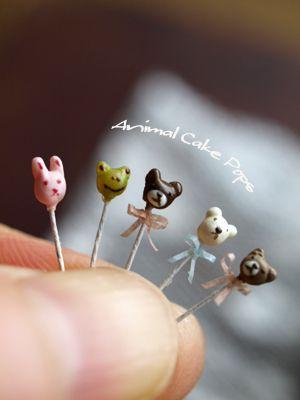 Teeny Tiny bear cake pops, super cute! #Baking #CakePops