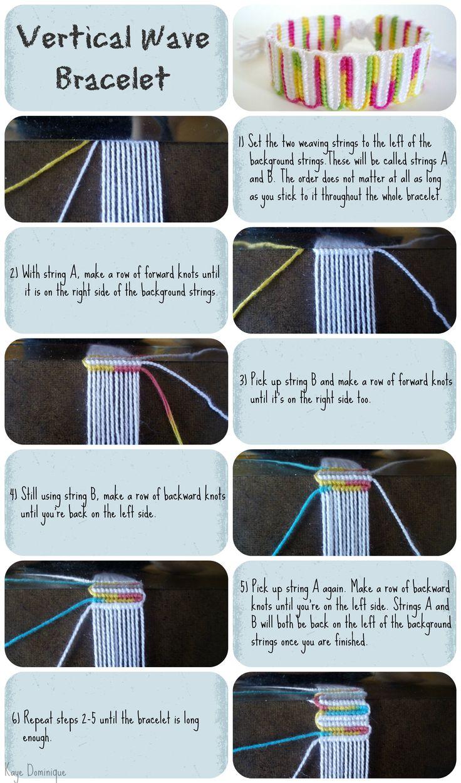 Vertical Wave Bracelet Tutorial by ~chibi-shishi on deviantART Source confirmed 4/1/14
