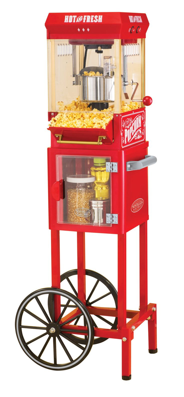 Found it at Wayfair - Vintage Collection Popcorn Cart (LOOK AT www.factoryauthorizedoutlet.com/FUN TIME POPCORN for full size 8 oz cart, excellent reviews $269 with free S&H)