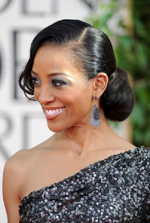 Side updo wedding hairstyles for black women