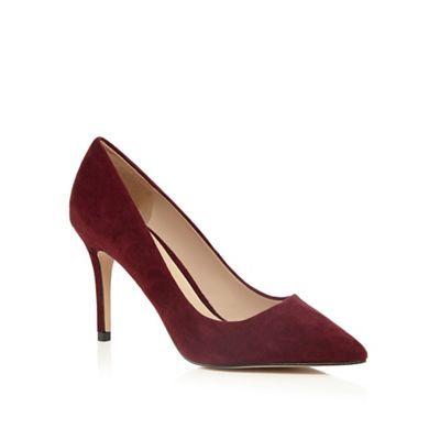 J by Jasper Conran Dark red 'Joss' suede pointed high shoes | Debenhams