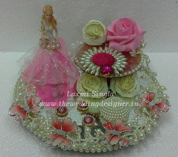 pink doll ring platter