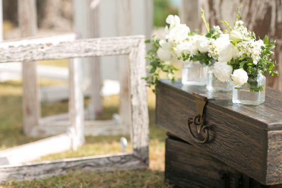 The boxes adorned with flowers b by Tirtha Bridal Uluwatu Bali #outdoor #garden #wedding