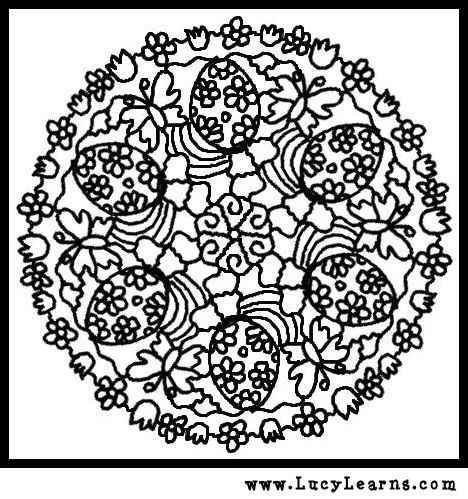 Easter Mandala Coloring Pages HOP OFF For Free Printable PAges At Milliande With Mandalas Eggs