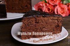 Шоколадный бисквит на сметане в мультиварке: рецепт отличного бисквита для торта | Мультиповаренок