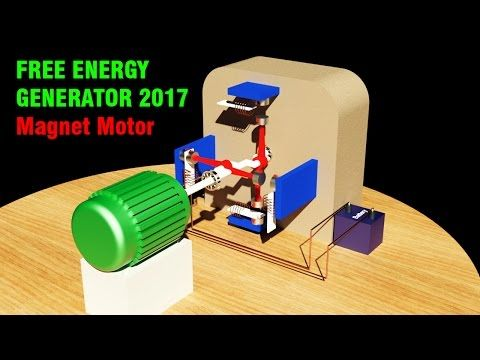 Free Energy Generator 2017, Permanent magnet motor - YouTube