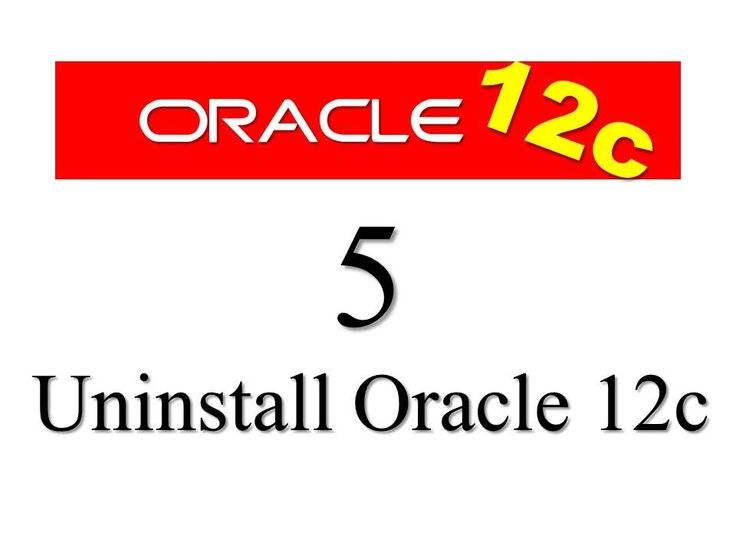 How to uninstall oracle database 12c from windows 7 by Manish Sharma RebellionRider