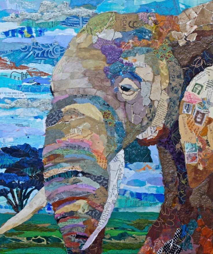 Bull Elephant Paper Mosaics                                                                                                                                                                                 More