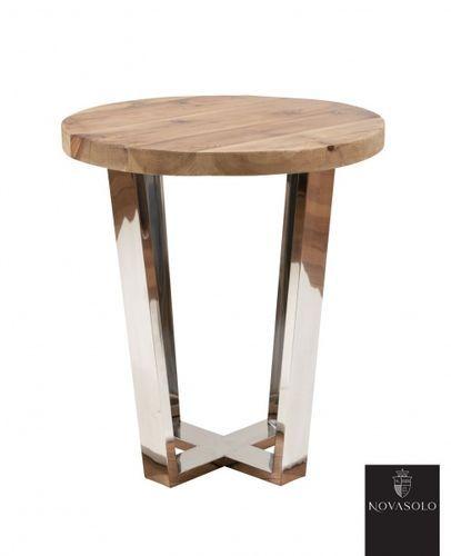 Tøft Avignon sidebord produsert i kombinasjon av et moderne understell i pusset rustfri stål og en røff og rustikk bordplate av resirkulert furu!Mål:Diameter 49 cmHøyde 56 cmMateriale:Resirkulert furuPusset rustfri stålVedlikehold:Vi anbefaler at møbelet regelmessig vedlikeholdes og til dette anbefaler vi bruk avAntikvax.Voksen reduserer risikoen for sprekker ved at den bevarer fuktigheten i treverket samtidig som den reduserer smuss og forenkler renhold ved å tilføre en ...