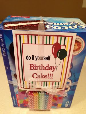 Do it yourself birthday cake gift