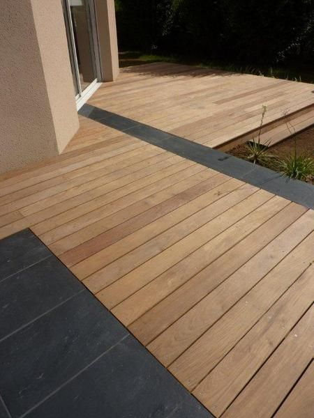 Best 25 wooden decks ideas on pinterest patio decks for Dallage pierre exterieur