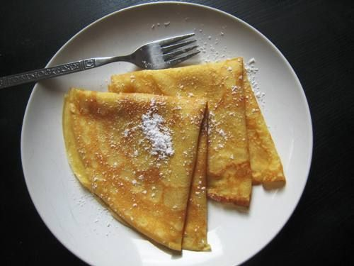 Easy Homemade Crepes - refrigerate batter for 30 minutes or overnight in fridge
