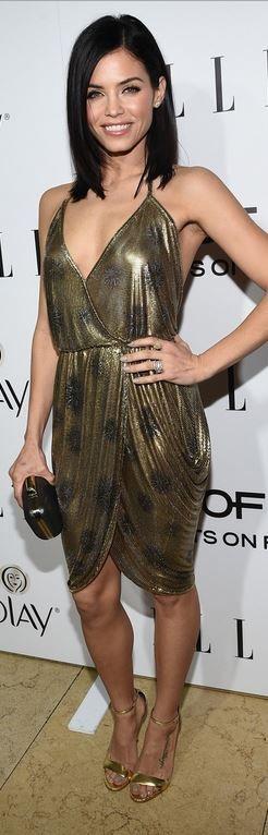 Jenna Dewan-Tatum: Coat – J Mendel  Shoes – Stuart Weitzman  Purse – Christopher Kane  Jewelry – H. Stern