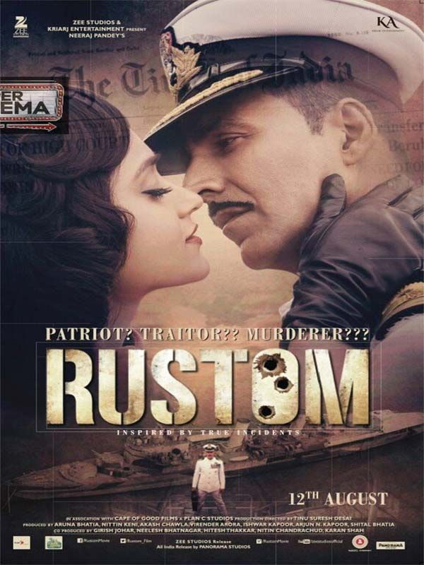 RUSTOM Movie Review: Akshay Kumar Pilots this Ship Well - After portraying a real life character in Airlift, Akshay Kumar does it again for Rustom. #Bollywood #Movies #TIMC #TheIndianMovieChannel #Entertainment #Celebrity #Actor #Actress #Director #Singer #IndianCinema #Cinema #Films #Movies #Magazine #BollywoodNews #BollywoodFilms #video #song #hindimovie #indianactress