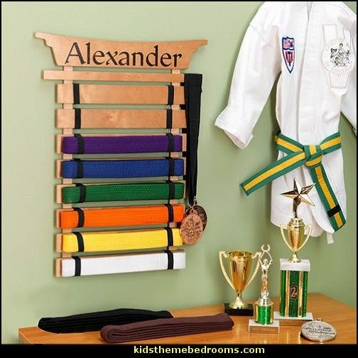 Martial Arts Belt Holder Personalized