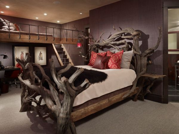 Beds Made From Trees 105 best bed frames images on pinterest | home, wood and bedroom ideas