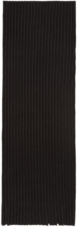 Homme Plissé Issey Miyake Black Pleated Scarf