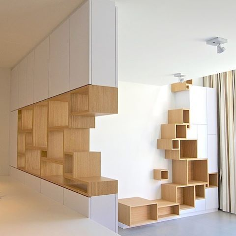 Modular shelves for an original composition. @modern_mansions ************************************************ Project: Storage shelving Design by Filip Janssens (@filipjanssens) ************************************************ Make sure you follow @designwanted [+115k] ************************************************ Filip Janssens started designing made to measure furniture in 2003 for his own home. • #Modular constructions, a lot like building with #Lego blocks. • The idea was that...
