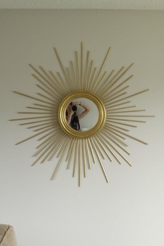 Sunburst Mirror: Diy Sunburst, Starburst Mirror, Master Bedrooms, Diy Starburst, Mirror Diycraftshomedecor, Diy Home, Gold Sunburst Mirror Diy, Art Wall, Diy Crafts Home Decor
