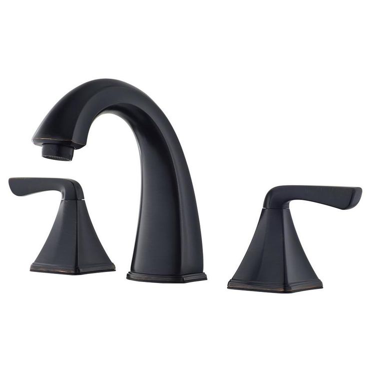 Pfister Selia Tuscan Bronze 2 Handle Widespread WaterSense Bathroom Faucet  (Drain Included)