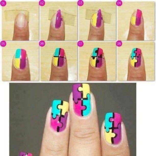 Nails, Nails Design, Nails Ideas, Nails Polish, Jigsaw Puzzles, Nails