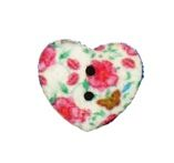 Roses Heart Buttons