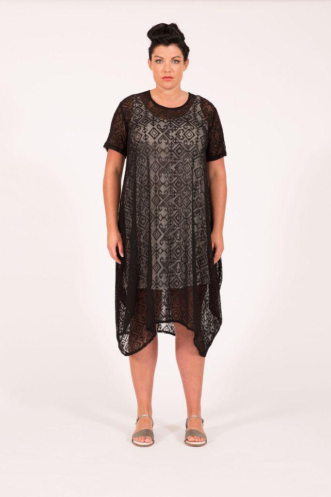 S16002 Garrick X-Stitch Dress Black