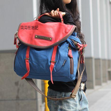 2014 новые сумки Корейский диких тенденции моды прохладно мотоцикл попал в цвет диагональ сумки на ремне, большой холст ретро очарование - T...