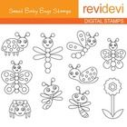 Cute baby bugs digital stamps.  These digital stamp cliparts are very useful for teachers and educators for creating their school and classroom pro...