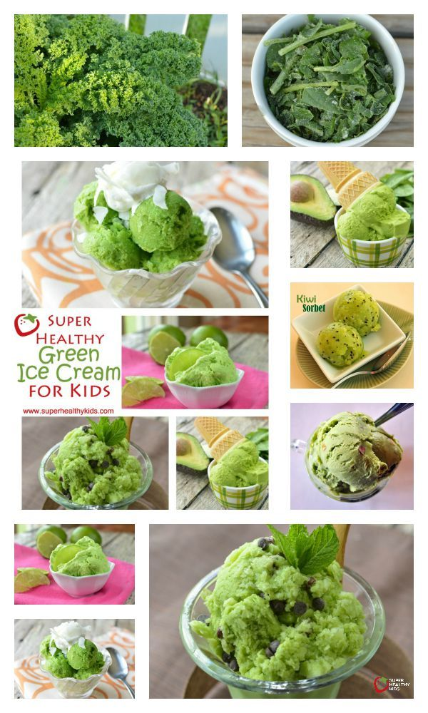 6 Super Healthy Green Ice Cream Recipes for Kids - I'm going to say, the mint chocolate chip is our all time favorite of these 6 ice creams. And there is kale in them all! http://www.superhealthykids.com/kids-favorite-green-ice-creams/