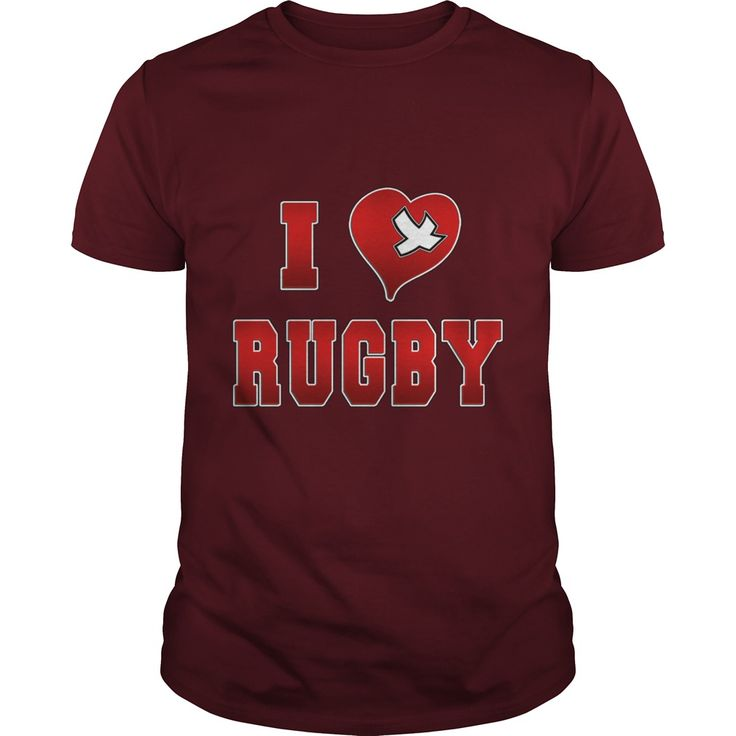 I love rugby Sport Girl Boy Guy Lady Men Women Man Woman Coach Player