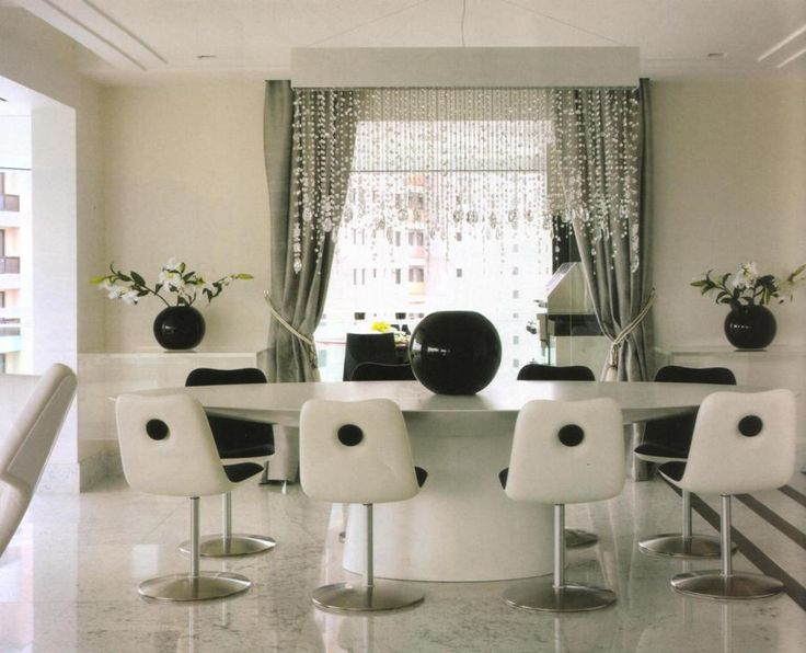 white oval table