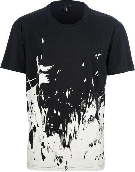 Black And White Paint Splatter Mens Tshirt