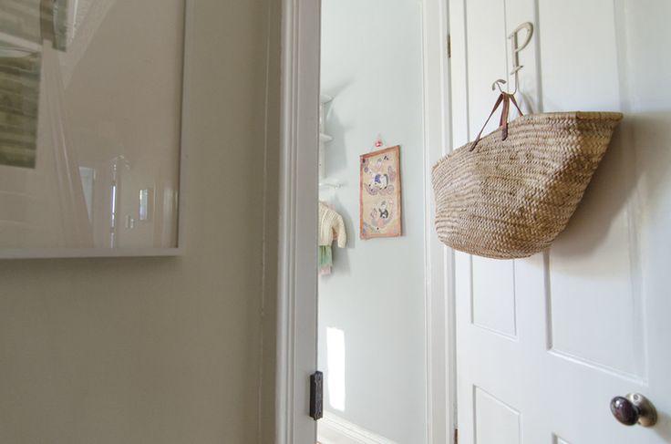 love the hook and basket on door