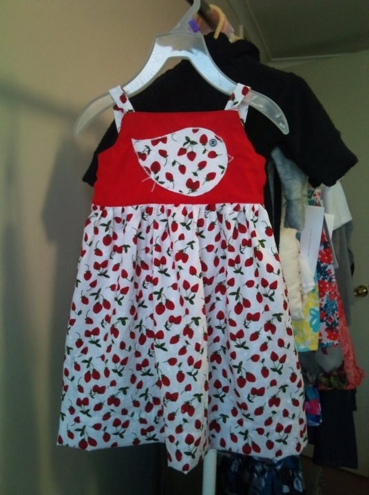 Strawberry bird dress