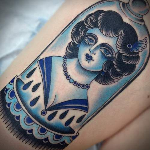 Electric Eye is the private tattoo and art studio of Marie Sena and Caleb Barnard, both formerly of Saints and Sinners in Dallas. Come visit us for the best custom tattoos and all kinds of strange and interesting artwork. We are located in the heart of Oak Cliff in Dallas, Texas.