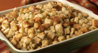 Classic Herb Stuffing: Make this savory stuffing, featuring poultry seasoning and thyme, a holiday tradition at your house. The oven-baked stuffing is the perfect complement to roasted...