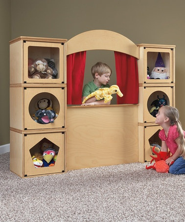 Take a look at this Puppet Theater Collection by RooMeez on #zulily today!: Mom Baby, Puppets Theater, Idea, Plays Structure, For Kids, Plays Rooms, Theater Collection, Roomeez Puppets, Kids Rooms
