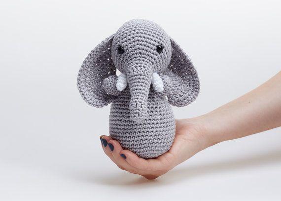 Soft Elephant ToyStuffed ElephantCrochet by KATShandmadeitems