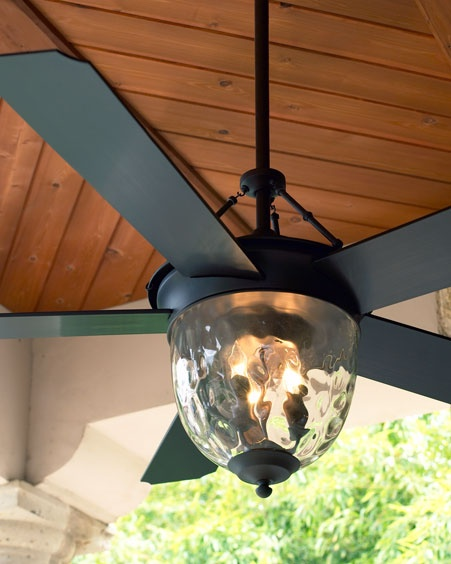 Outdoor ceiling fan with light from Horchow   Bronze Outdoor Ceiling Fan  Compare At: 	$350.00  Special Value: 	$249.90