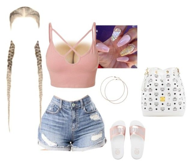 """""""Baddie⚔️"""" by jaylapool1 on Polyvore featuring LE3NO, Wet Seal and MCM"""