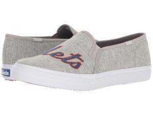 Keds Double Decker MLB Mets Jersey (Light Gray) Women's Slip on  Shoes